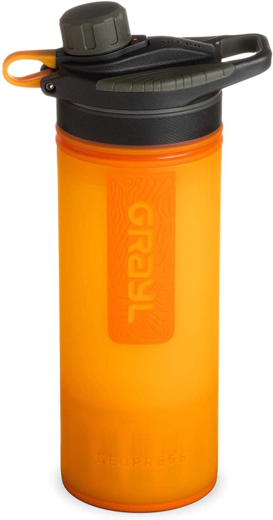 The Grayl Filtering Water Bottle is so handy for having access to clean water 24/7 in destinations like Spain, Greece, and Portugal.