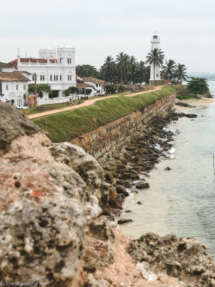 The colonial town of Galle with its lighthouse and colonial architecture.