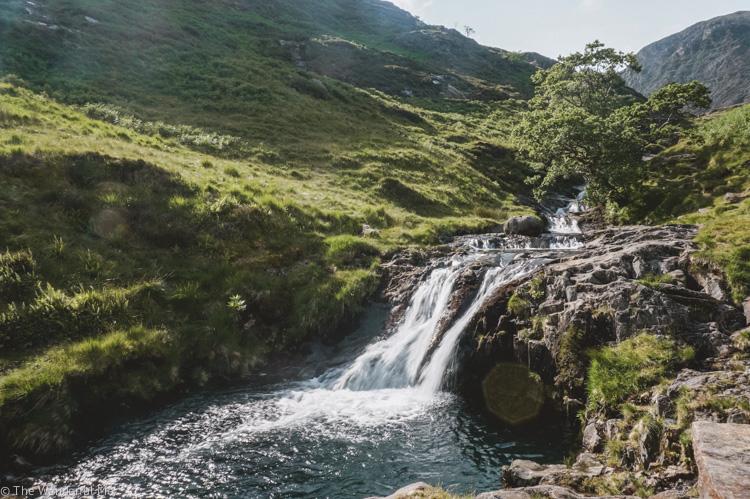 A waterfall at Watkins Path.