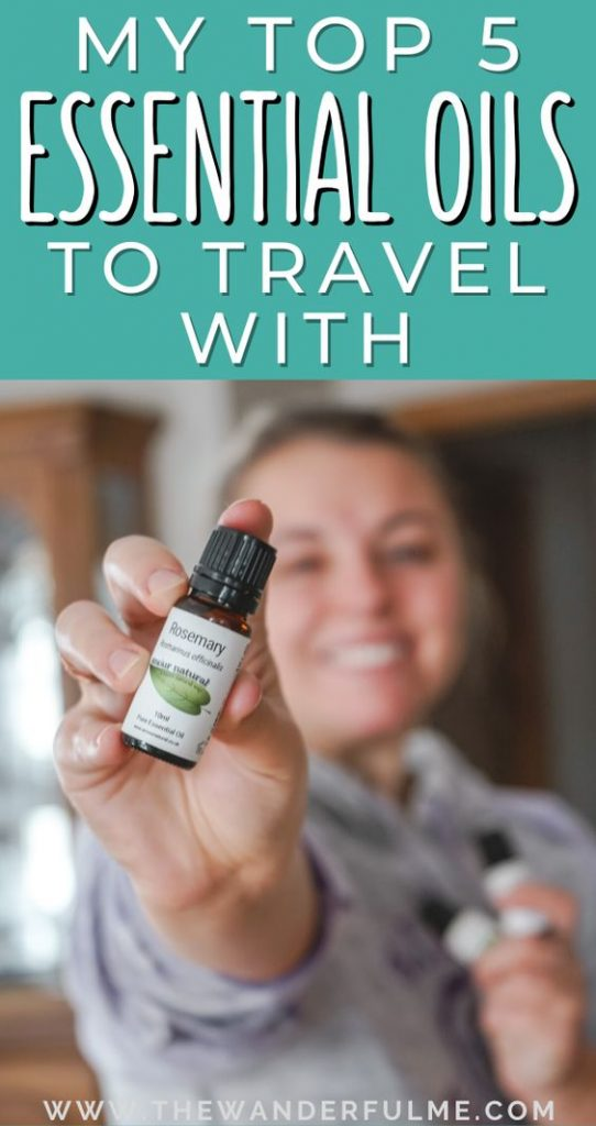 Want to know a secret... I never travel without these 5 awesome essential oils! Whether I'm backpacking Europe or just heading out on a weekend getaway, these essential oils always make their way into my carry-on bag. They help with everything from sleeping in a hostel to freshening a room! Check these out for yourself if you're ready to be a bit more natural when traveling this year. #essentialoils #sustainable #travel #tips