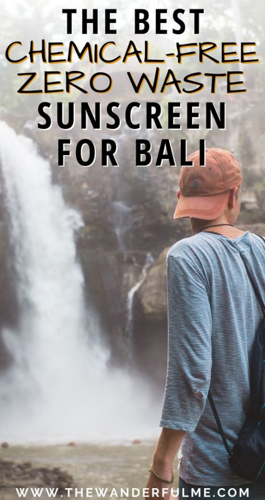 Are you traveling to Bali, Indonesia, soon? Don't forget to pack the Bali essentials! Which includes sunscreen. But don't pack your everyday average sunscreen... opt for chemical-free, zero waste sunscreen instead to be a more sustainable traveler! Check out my favorites here. #zerowaste #sunscreen #sustainable #bali #indonesia