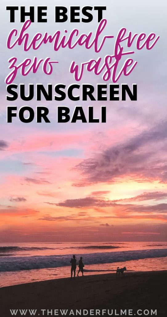 Heading out to the gorgeous island of Bali soon? Don't forget to pack your sunscreen! An essential item for Indonesia. Not only are the drinks strong, but so is the sun. Although, don't just take regular sunscreen, as it can harm the environment AND you! Check out these chemical-free, zero waste sunscreens instead to travel more sustainably. #zerowaste #sustainable #bali #sunscreen #indonesia