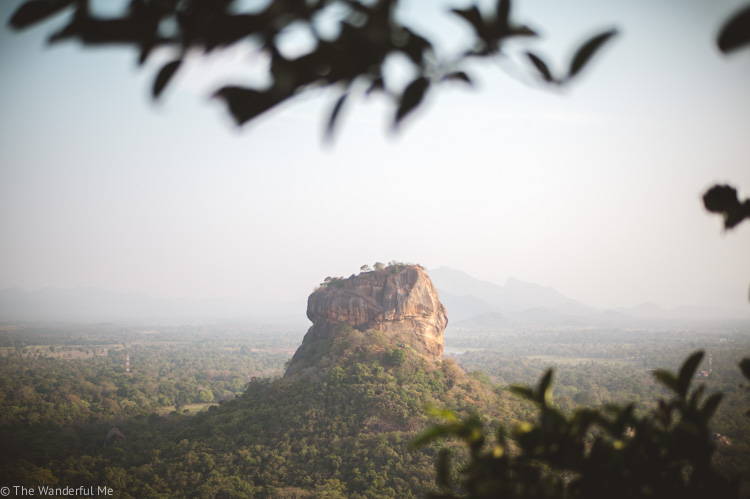 Sigiriya Rock in the distance.