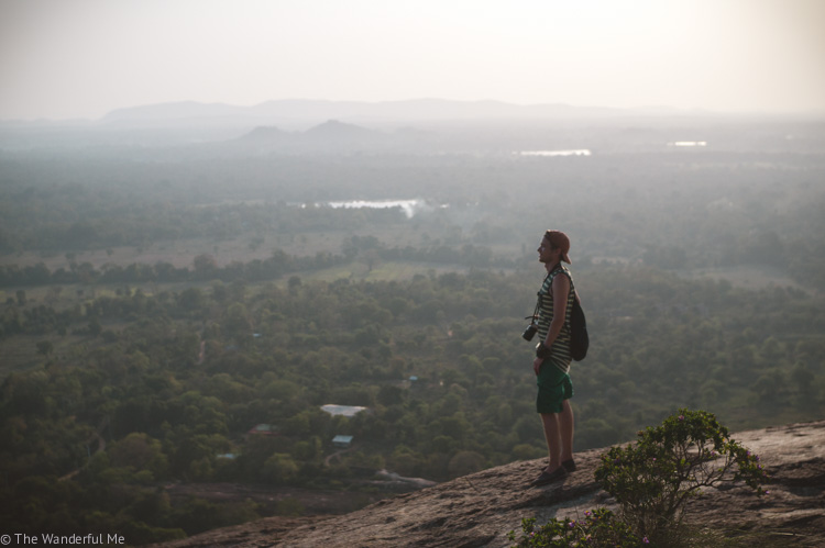Dan overlooking the gorgeous view from Pidurangala Rock in Sri Lanka.