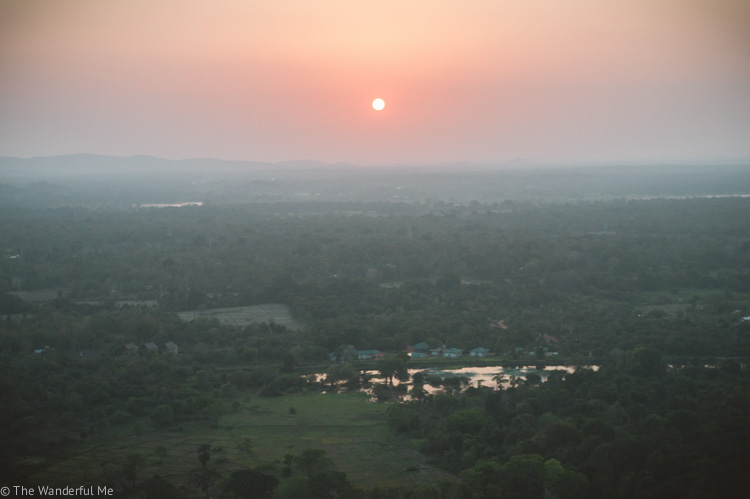 A Sri Lanka sunset from Pidurangala Rock.