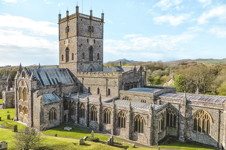 St. Davids cathedral in all its glory.