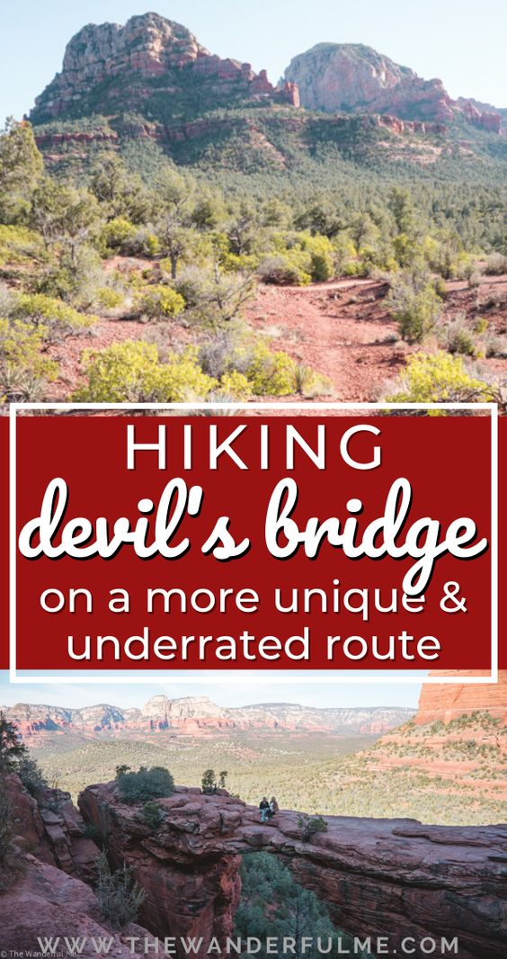 Looking for hike Devil's Bridge while visiting Sedona, Arizona? Don't go the traditional hiking route! Follow my guide and hike via Mescal Trail + Chuck Wagon Trail, the more unique and underrated route to Devil's Bridge. #devilsbridge #sedona #hiking #arizona #unitedstates #usa