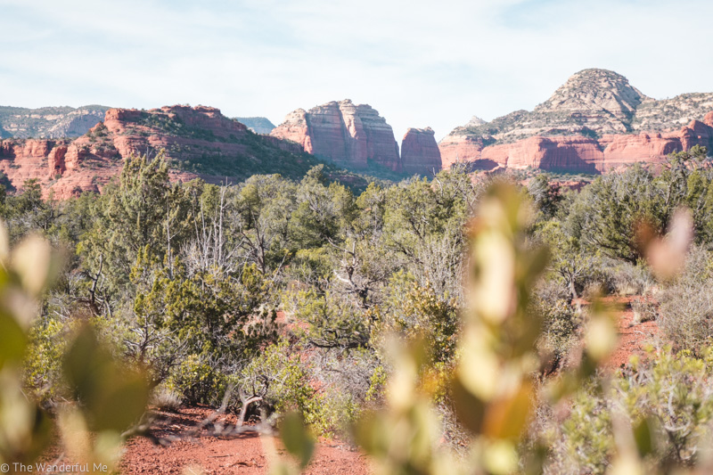 A gorgeous view of the surrounding Sedona area.