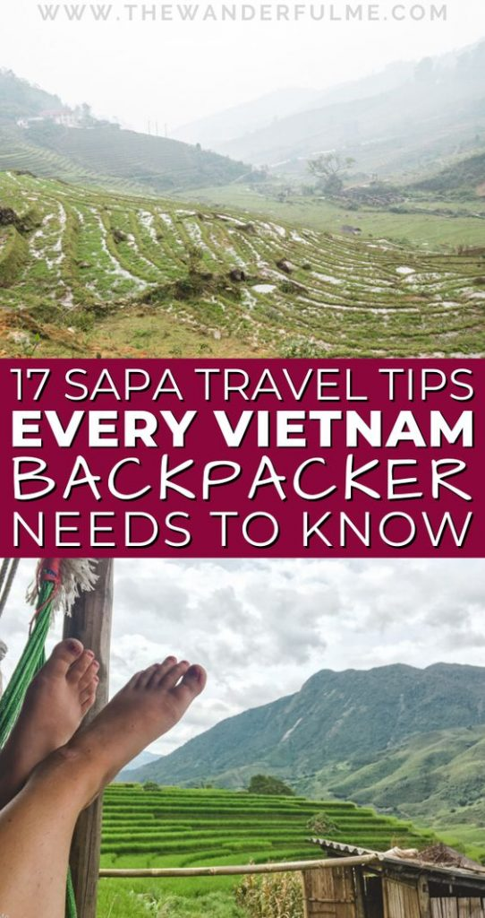 If you're traveling to Sapa, Vietnam, soon, then you NEED to read these helpful Sapa tips! From where you're going to stay to whether or not you need a Sapa trekking guide, these are hands down the 17 most helpful Sapa tips to help you plan the best adventure. #sapa #vietnam #travel #tips #asia #southeastasia