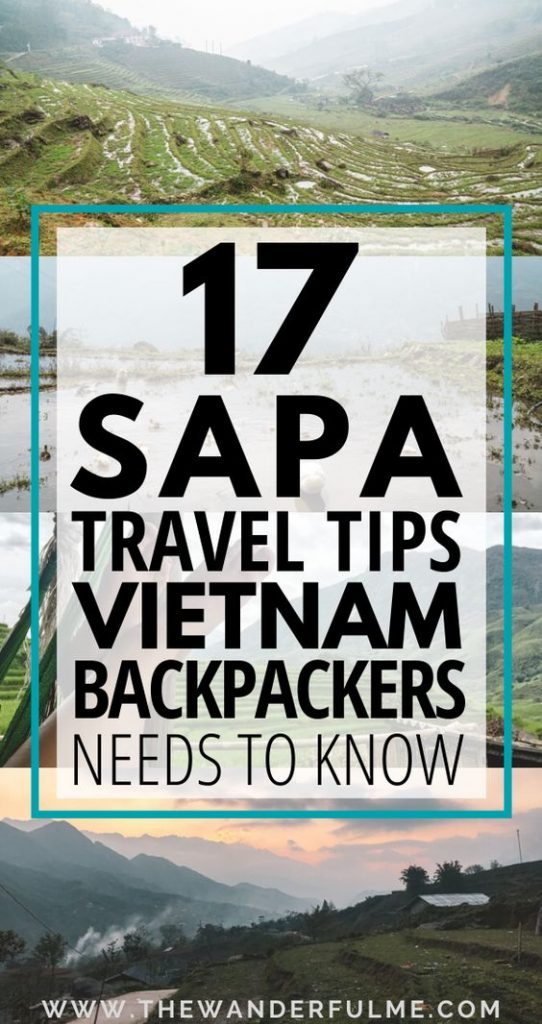 Heading to Sapa while backpacking Vietnam? Make sure to read up on these 17 Sapa travel tips! From what Sapa weather is like (and how to prepare for it) to what you should expect while there (both good AND bad!), these Sapa, Vietnam tips will help you plan the best adventure there. #sapa #vietnam #travel #tips #itinerary