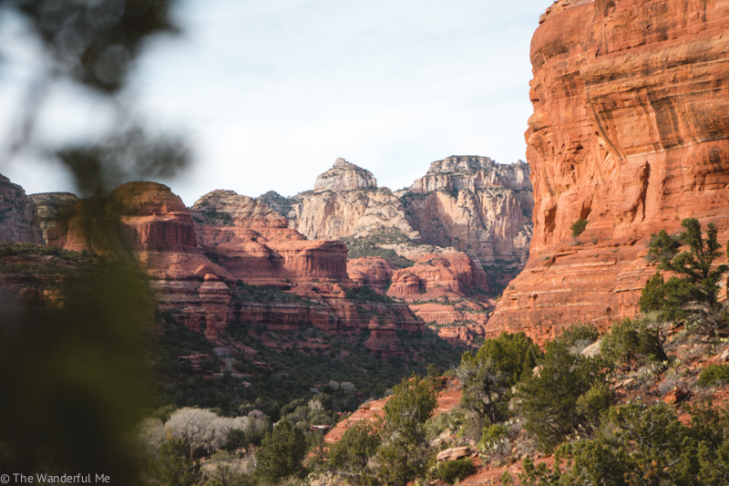 Views from Boynton Vortex featuring red rocks and canyons.