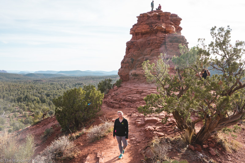 Hiking near Sedona, AZ - a must do when road tripping Arizona.