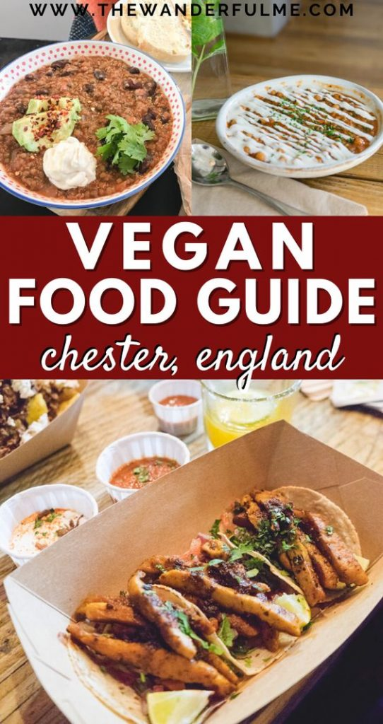 Looking for the BEST vegan food in Chester, England? Here's your ultimate guide to plant-based eats in this magical, historical, Roman city! From burgers and bowls to cake and cookies, this vegan Chester guide has got it all. #chester #england #uk #vegan #food #travel