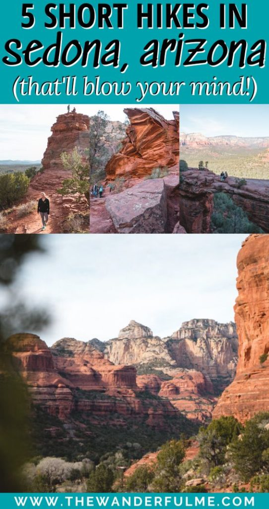 Ready to be blown away by the red rocks, mountain views, and wildly good hikes in Sedona, Arizona? Lace up your hiking shoes and head out on one of these 5 short, easy hikes in Sedona to see the best of the area! #sedona #arizona #usa #hiking #tips #travel #unitedstates #trek