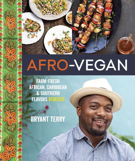 The book cover to Bryant Terry's Afro-Vegan cookbook.