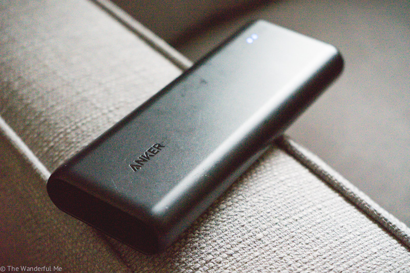 An ANKER power bank, most definitely a hostel packing essential to stay all charged up no matter where you are.