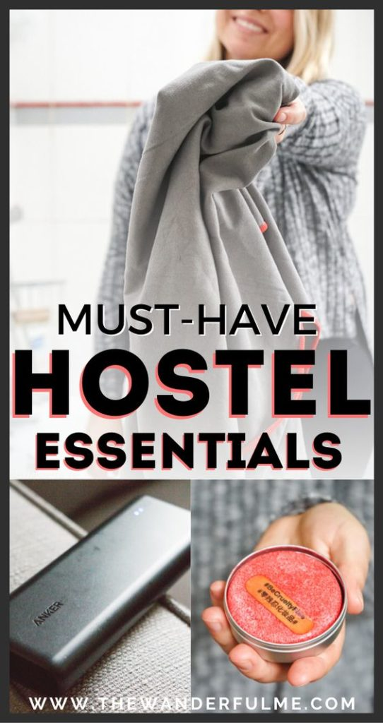Staying in a hostel on your next adventure? Don't forget these must-have essentials! From a first aid kit to a quick-drying travel towel, these hostel packing essentials are everything you'll need to have a comfortable shared dorm room experience. Click the pin to see my hostel packing list! #hostel #packing #tips #essentials #backpacking #travel