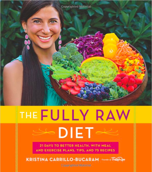 The book cover to Kristina Carrillo-Bucaram's The Fully Raw Diet cookbook.