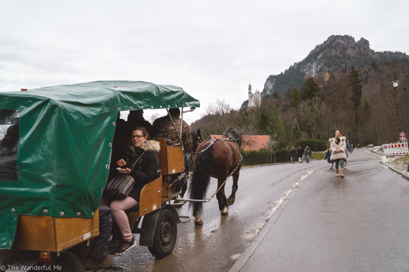 The horse-drawn carriage, which takes visitors up to Neuschwanstein Castle, is a no-no in ethical travel.