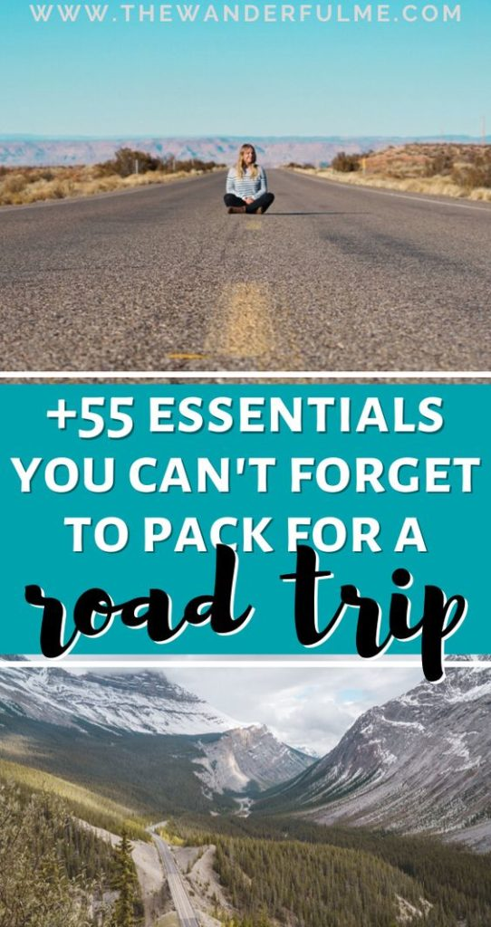 Not sure what to pack for your next road trip? With an incredible amount of road trippin' experience, here's my road trip checklist filled with more than 55 essentials that'll make your next road adventure more cozy and comfortable! (As well as more than a few logical items that are just simply road trip must-haves!) #roadtrip #roadtripchecklist #roadtrippacking #packinglist