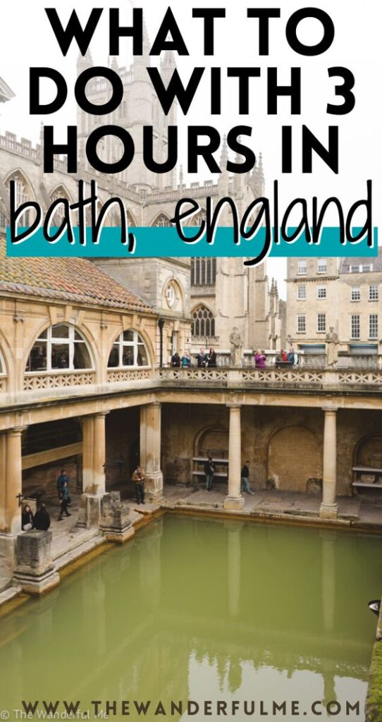 Only have a short 3 hours in Bath, England? I get it! As someone who made a quick stop in Bath on a UK road trip, I've written up a cool post on what you can see with those 3 hours in Bath! Such as the Roman Baths, Royal Crescent, and more. Click the pin to check it out if you're traveling to Bath! #bath #england #uk #ukroadtrip #bathitinerary