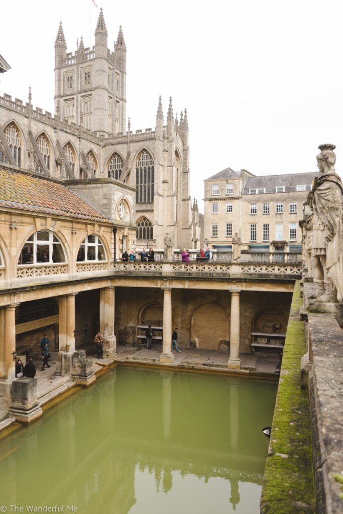 With Bath Abbey in the background and the historic roman bath in the foreground, it's a magnificent site.