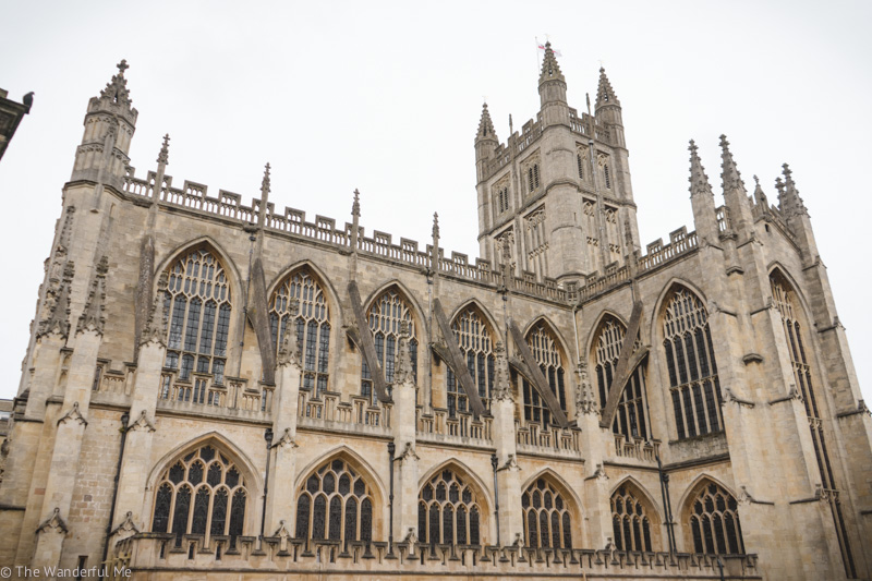 Bath Abbey and it's gorgeous architecture.