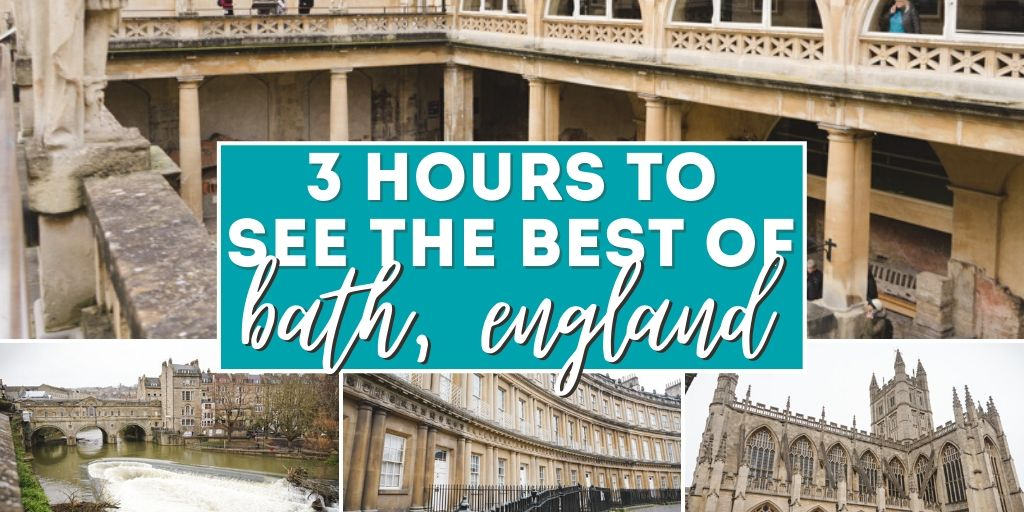 3 hours to see the best of Bath, England.