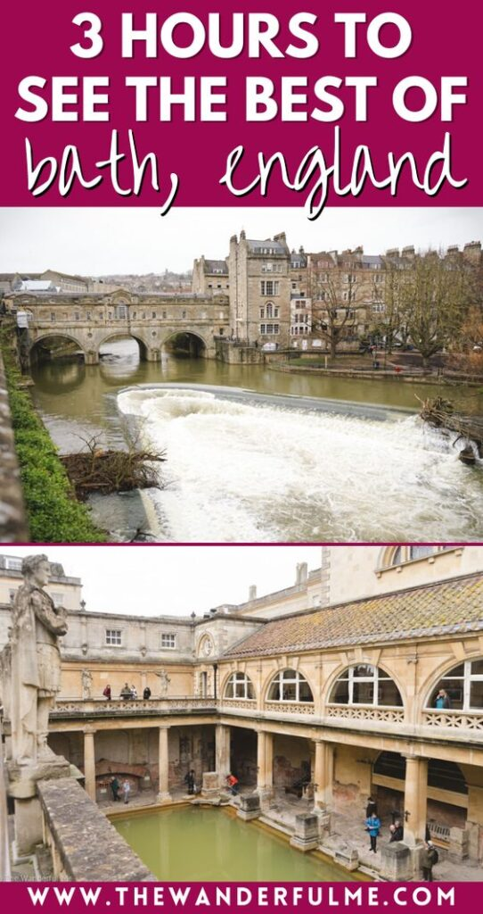 Want to see the best of Bath, England, in just a few hours? You can see The Roman Baths, the Royal Crescent, Bath Abbey, and more! Check out this post, which is focused on when my boyfriend and I made a quick day stop in Bath while on a UK road trip. We did everything we could with only 3 hours in Bath! #bath #england #uk #uktravel