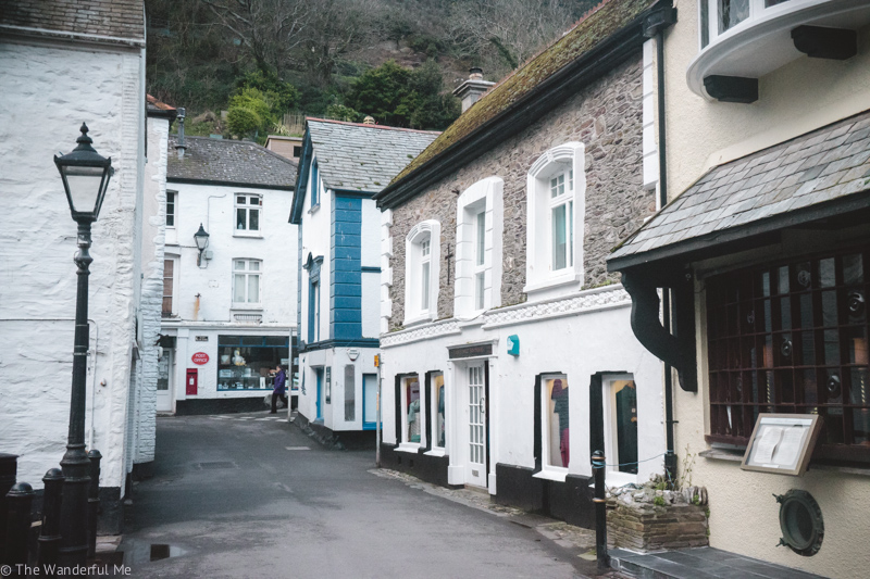 Looking up a road in Polperro.