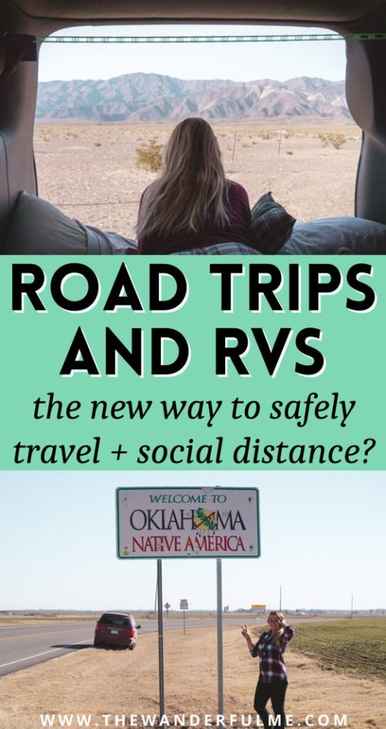 Are road trips and RV-ing the new way to safely travel and social distance? I think so! Here are my 5 fantastic reasons why you should consider a road trip or RV adventure for your next trip to both have a good time AND social distance to stay safe. #socialdistancing #rv #roadtrip #travel