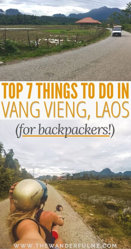 Backpacking Southeast Asia or Laos and wondering what the best things to do in Vang Vieng are? From tubing down the river and the Blue Lagoon to motorbiking between the Laos limestone karst mountains, you won't want to miss out on these Vang Vieng attractions and sites! If you're traveling Laos, definitely take a look at this Vang Vieng itinerary to have the best time. | #laos #vangvieng #thingstodo #southeastasia