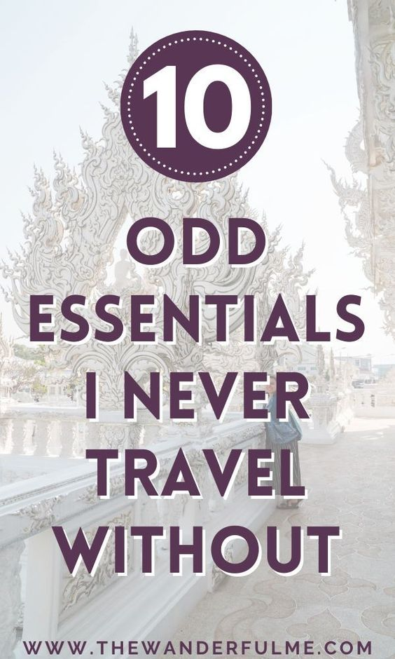Need some packing inspiration for your upcoming trips? Check out these 10 odd essentials I NEVER travel without to get some ideas on what to include on your must-have packing list. #packing #list #checklist #whattopack