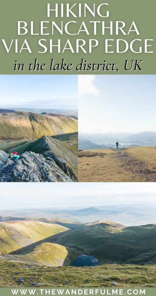 Need some hiking inspiration? Or looking for a great hike in the Lake District National Park? Delivering exceptional views of the surrounding landscape and an exhilarating accent to the summit, here's my experience hiking Blencathra via Sharp Edge as an amateur hiker and total newbie to knife edges. #Blencathra #England #UK #LakeDistrict #Hiking #HikingTrail