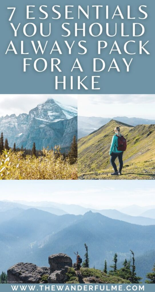 Need some ideas on what to pack for a day hike? If you're packing up and heading out on a cheeky day hike soon, I'm sure you're gear bag is filled with things like a few energizing snacks, a compass, and your phone to use as a map (or heck, maybe even a real map!). But while those things are all fantastic, there are a few day hiking essentials you need to pack that most people don't think of! Keep scrolling to see the list. #whattopack #packinglist #dayhike #hikingtips #hikingessentials