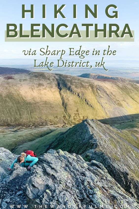 Are you thinking about hiking Blencathra peak, otherwise known as Saddleback, via Sharp Edge in the Lake District National Park? Delivering exceptional views of the surrounding landscape and an exhilarating accent to the summit, here's my experience hiking Blencathra via Sharp Edge as an amateur hiker and total newbie to knife edges. #Blencathra #England #Hiking #UK #LakeDistrict #SharpEdge #KnifeEdge #HikingInspiration