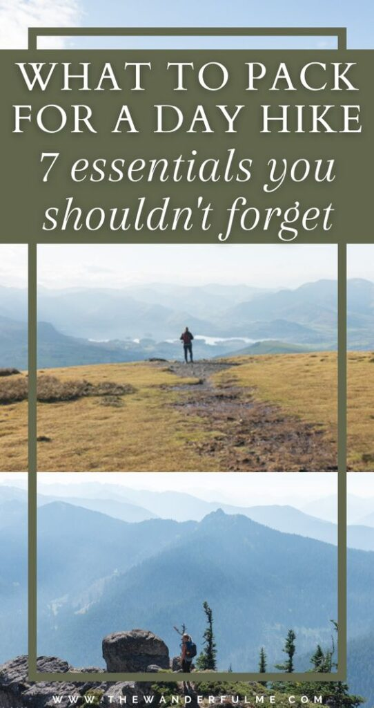 If you're packing up and heading out on a cheeky day hike soon, I'm sure you're gear bag is filled with things like a few energizing snacks, a compass, and your phone to use as a map (or heck, maybe even a real map!). But while those things are all fantastic, there are a few day hiking essentials you need to pack that most people don't think of! Keep scrolling to see the list. #Packing #Packlist #dayhike #whattopack #hikingessentials