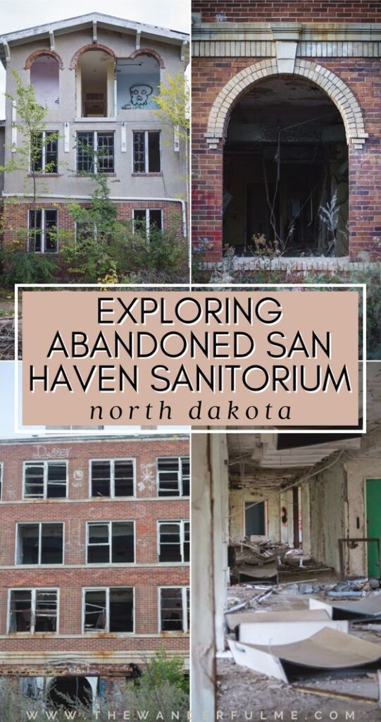 Have you ever heard of San Haven Sanitorium? An abandoned asylum found in the middle-of-nowhere North Dakota, San Haven has turned into a broken, desolated place that attracts ghost hunters, urban explorers, and curious travelers alike. Want to know more about abandoned San Haven? Read my experience exploring this notoriously haunted spot in ND. #SanHaven #Abandoned #Asylum #NorthDakota