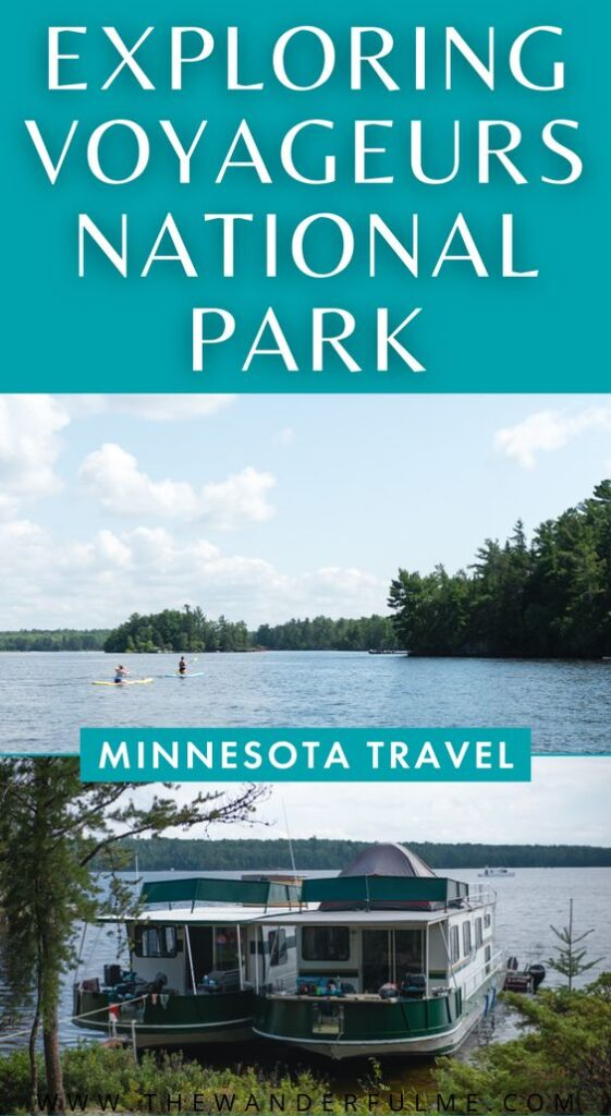 "Have you ever heard of Voyageurs National Park in Minnesota? No doubt, when one hears ""national parks in the United States"" places like Yosemite, Death Valley, the Grand Canyon, and Yellowstone come to mind. However, there's only one national park in the midwest state of Minnesota... and it is highly underrated! To inspire you to visit this remote national park, read my experience of visiting Voyageurs National Park. (Hint: it includes amazing sunsets, paddle-boarding, cliff jumping, and more!)"