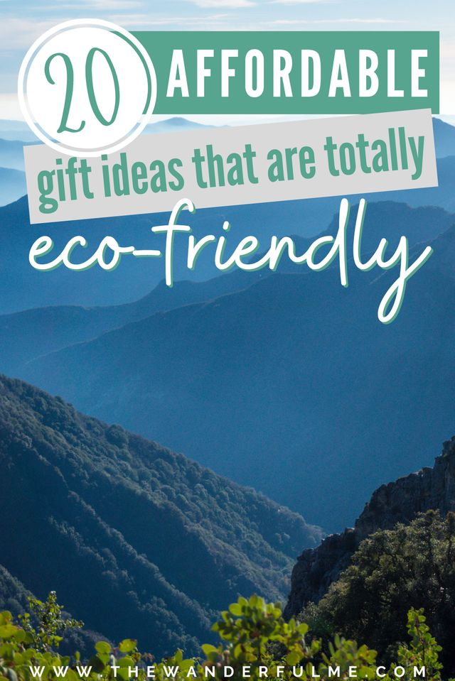 Are you on the lookout for some sustainable gifts to give your beloved friends and family? Wondering what the heck you get someone who is more focused on being environmentally-friendly this year? Don't fret! I've got just the list for you. View these 20 affordable eco-friendly gift ideas to give to your earth-lovin' pals (all are under $25!). / ecofriendly gift ideas for her / sustainable gifts / cheap sustainable gifts / green gift ideas / cheap eco friendly gifts / eco gifts / organic gifts