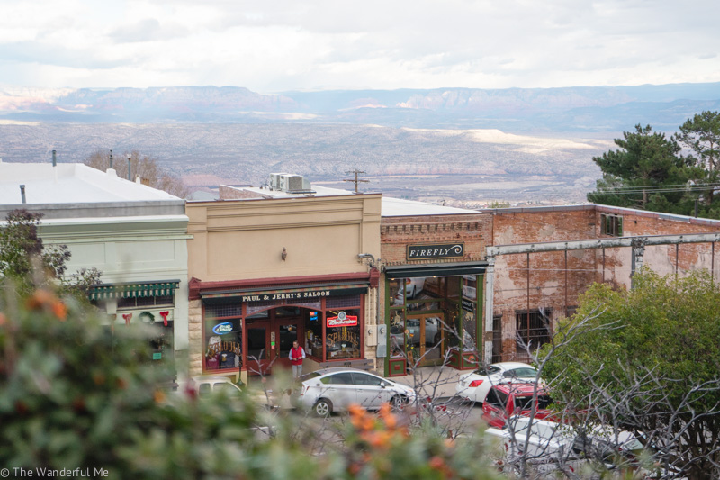 View of local shops in Jerome, Arizona.