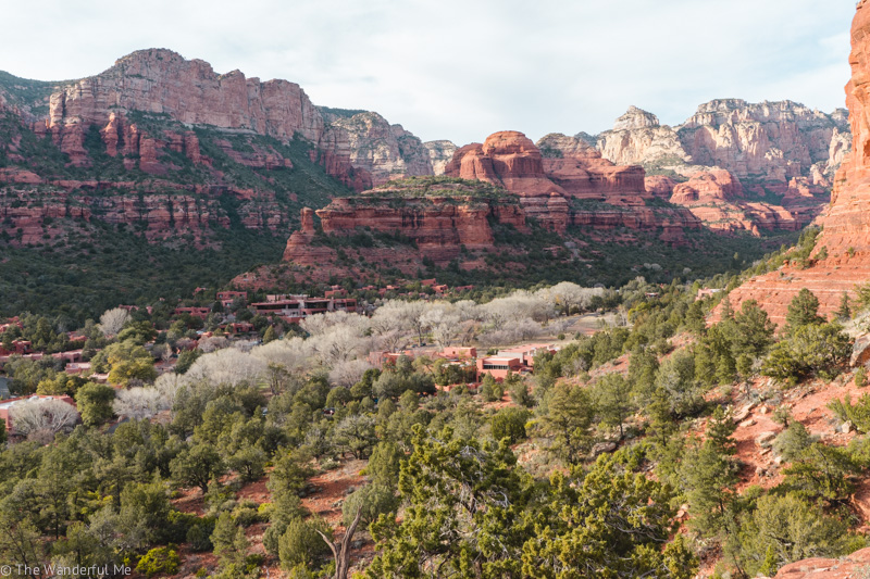 View of the red rocks of Sedona, AZ.