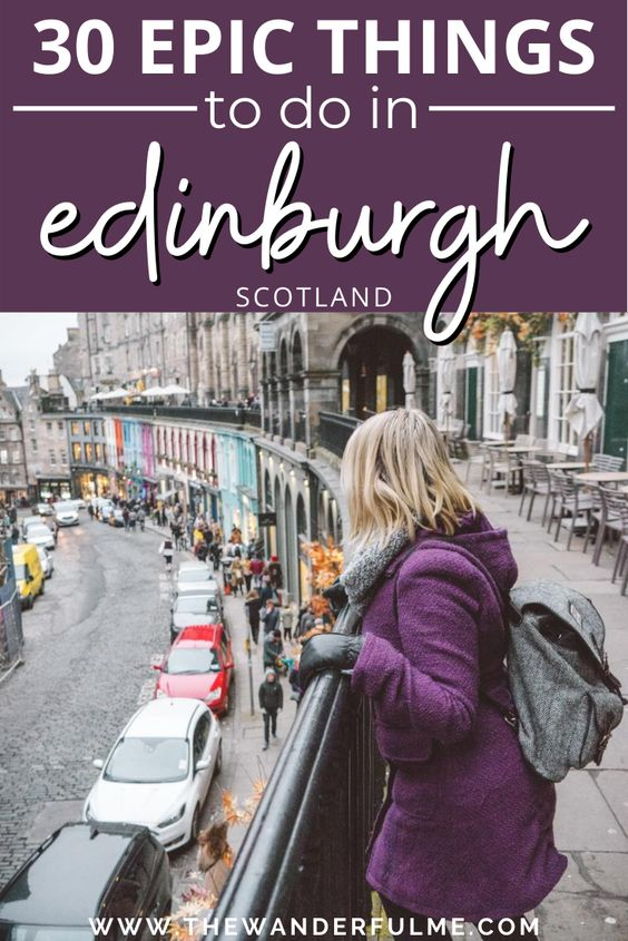 Explore Edinburgh's beaten path and experience these 30 epic things to do in Edinburgh, Scotland, for yourself! Featuring the Royal Mile, Edinburgh's Castle, Victoria Street, Harry Potter sites, and more, this Edinburgh bucket list has everything you must do when you visit this magical city. #edinburgh #scotland #uk #unitedkingdom #thingstodo #activity #attractions #bucketlist